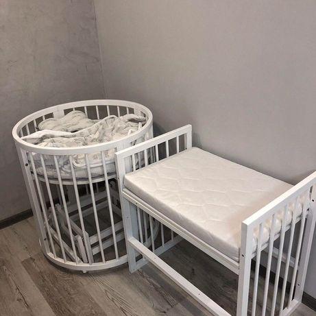 СРОЧНО Кроватка овальная круглая ліжечко дитяче трансформер  7 в 1