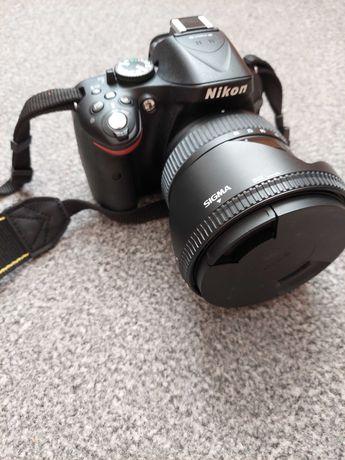 Nikon D5200 + 2 obiektywy + torba + statyw DUŻY ZESTAW