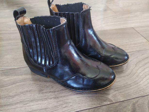 Skórzane buciki sztyblety Zara r 26
