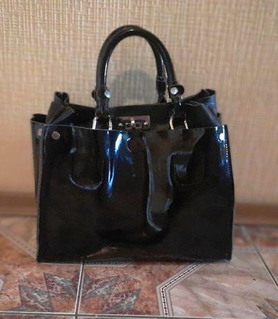 Продам свою почти новую классную качественную кожаную сумку
