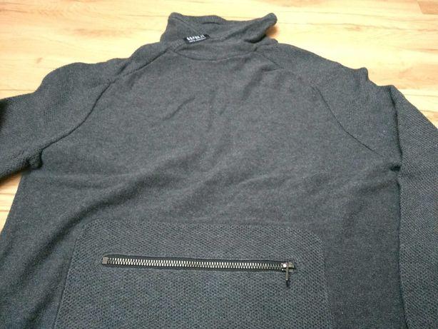 Zara knit bluza sweter 152 cm bdb kolor stalowy