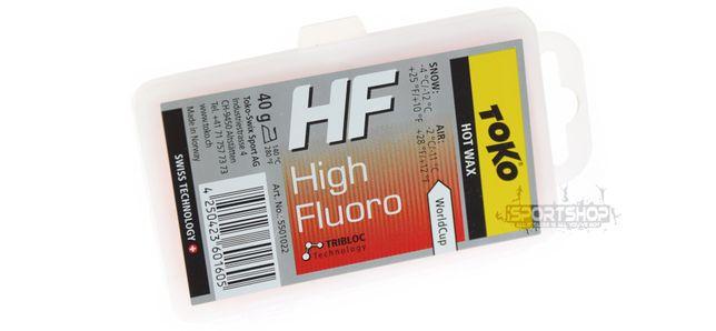 Smar zawodniczy HF na gorąco - czerwony 40g TOKO (High Performance)