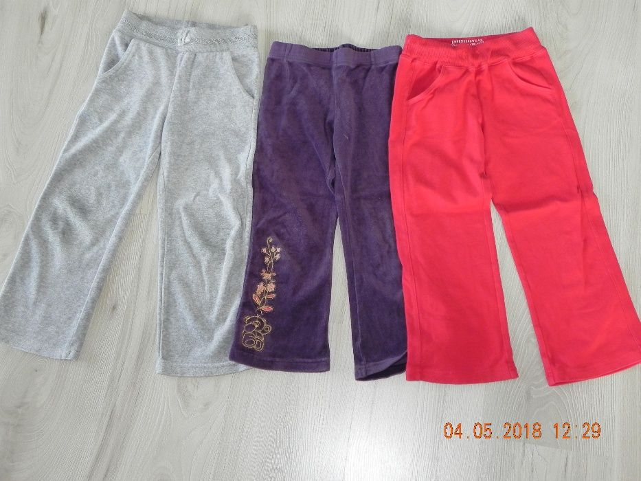 spodnie welurowe dresowe roz.104-110 Łask - image 1