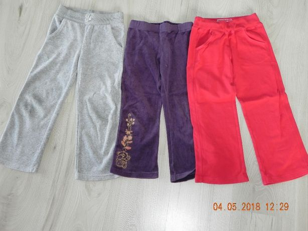 spodnie welurowe dresowe roz.104-110