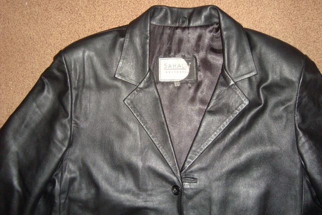 Пиджак кожаный мужской, новый