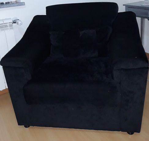 Sofá de 1lugar cor preta