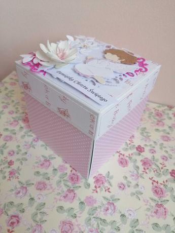 Pudełko eksplodujące exploding box na chrzciny, dziewczynka
