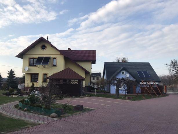 2 domy Maciejów Stary+budynki gospodarcze Gospodarstwo