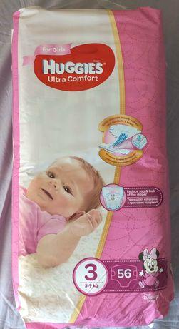 Подгузники Huggies Ultra Comfort для девочек 3 (5-9 кг)