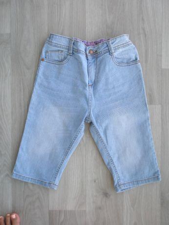 Шорты (капри) джинсовые на дев. р. 140-146