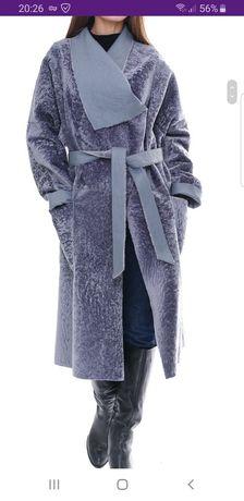 Шуба пальто мех астроган