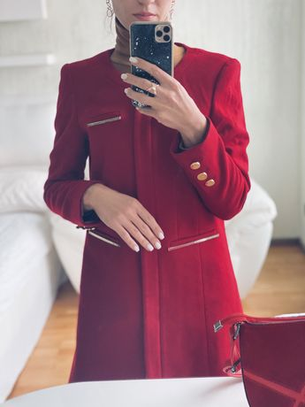 Пальто из итальянского велюра MON CHERI