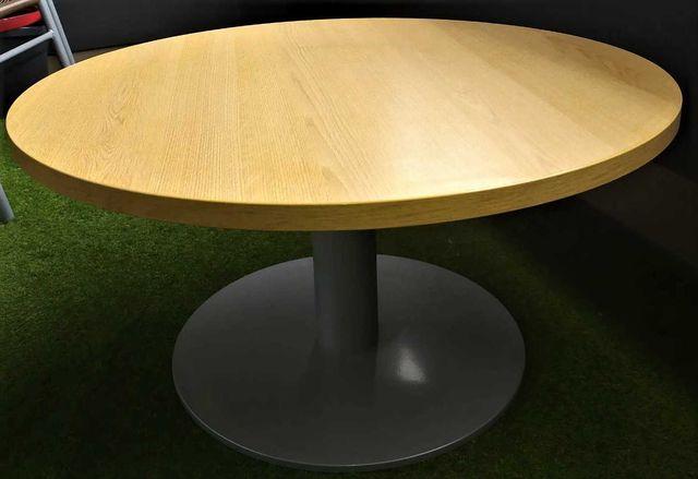 Okrągły stolik kawowy z metalową nogą LOFT INDUSTRIALNY