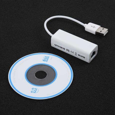 Adaptador USB para Ethernet RJ45 Lan 10/100Mbps Novos