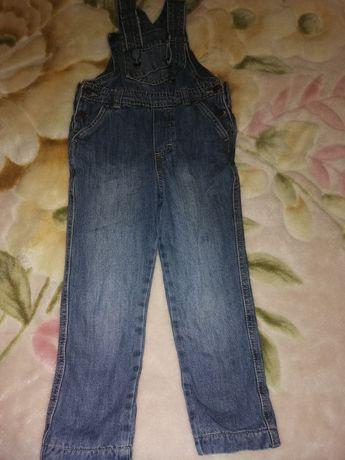 Утеплений джинсовий комбінезон