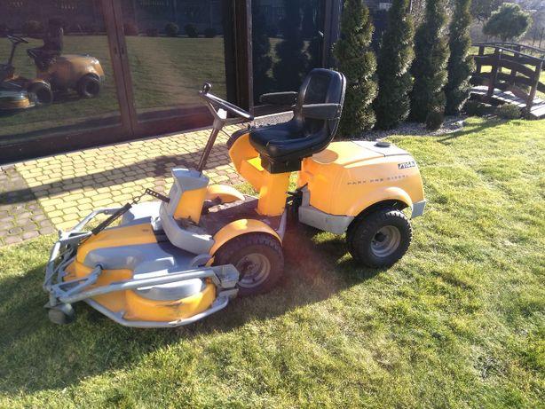 Traktorek kosiarka Stiga Park Diesel+ pług wirnikowy i zamiatarka
