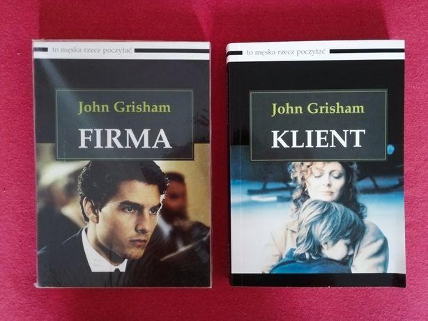 Książki 'Firma' i 'Klient' John Grisham