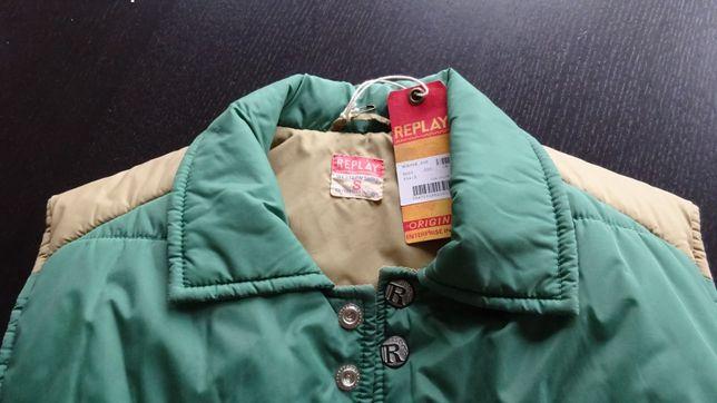 Kamizelka Replay Original Western Shirt blue jeans ocieplana nowa