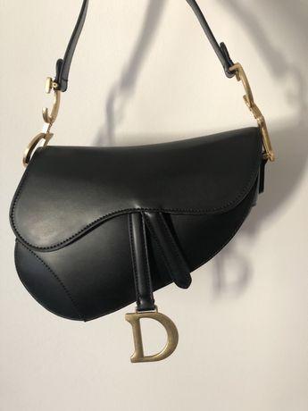 PROMO Torebka DIOR Saddle Bag skórzana czarna elegancka damska modna
