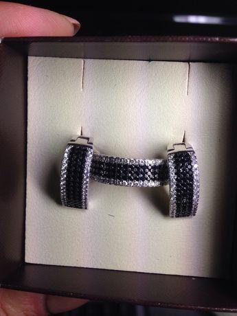 серьги и кольцо серебряные