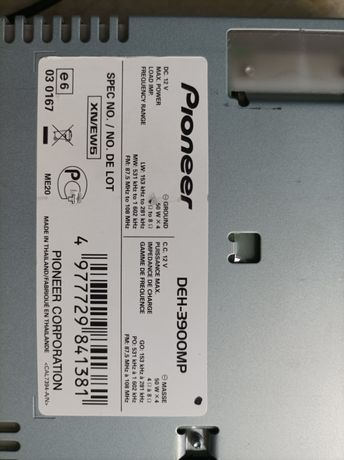Pioneer deh3900mp