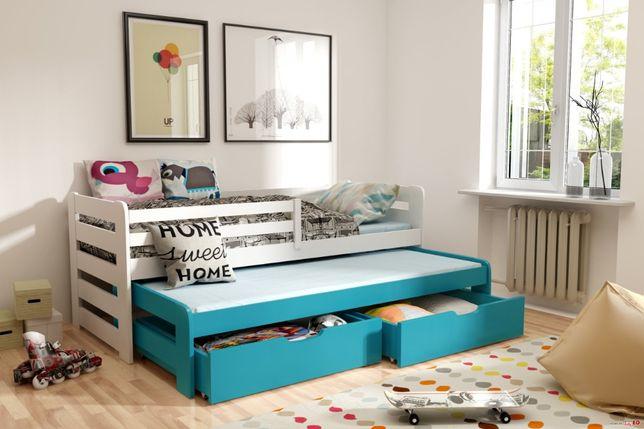 Łóżko trzyosobowe piętrowe HAPPY z drewna sosnowego!