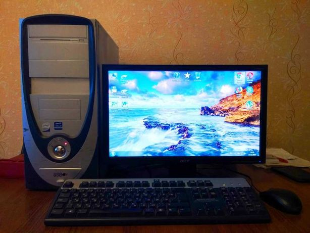 Продам 4-х ядерный компьютер с ЖК монитором
