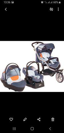 Wózek Chicco  trójkołowy,  3w1
