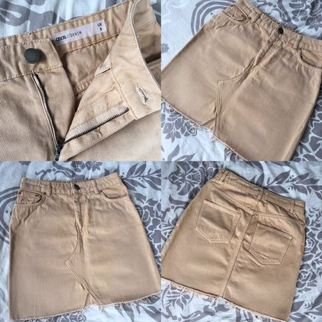 Новая джинсовая беж юбка ASOS, Zara, h&m