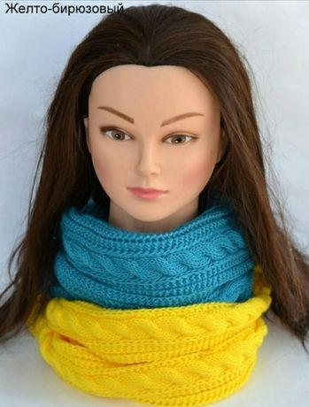Тёплый шарф-хомут