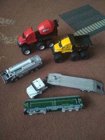 Поезд, бетономешалка, грузовик, фура, maitso, машинки.