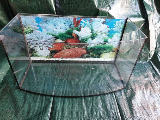 Akwarium panoramiczne 60x20x34