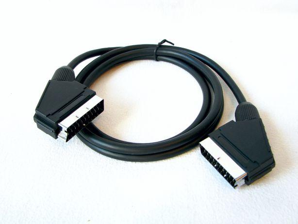 Kabel EURO Scart-Scart 1,5 metra Skymaster NOWY Dekoder Video DVD itp.