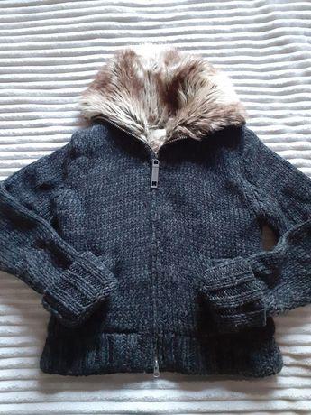 Gruby sweter na suwak, rozm S