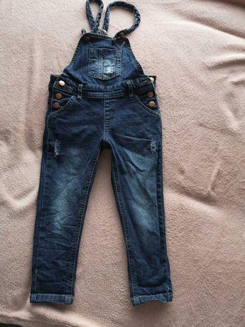 Spodnie jeansy ogrodniczki 98