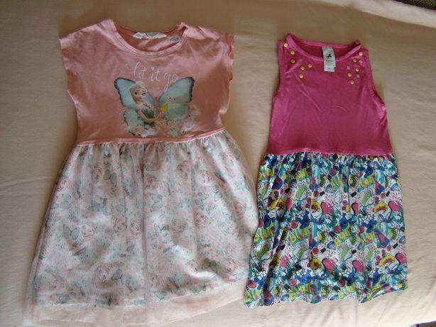 Ubranka dla dziewczynki - sukienki w rozm.98-104