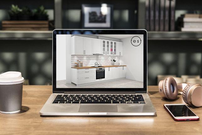 Meble kuchenne na WYMIAR,szafy w zabudowie,garderoby-Projekty 3D