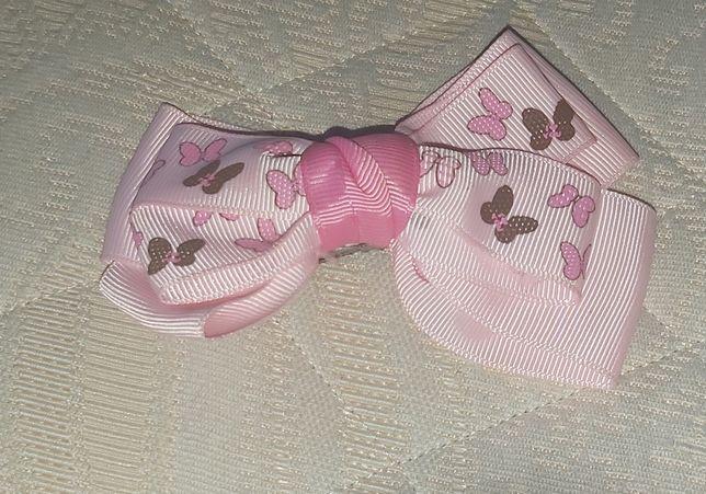Laço de cabelo cor de rosa