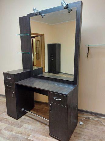 Стол с зеркалом для парикмахерской (в квартиру или офис)