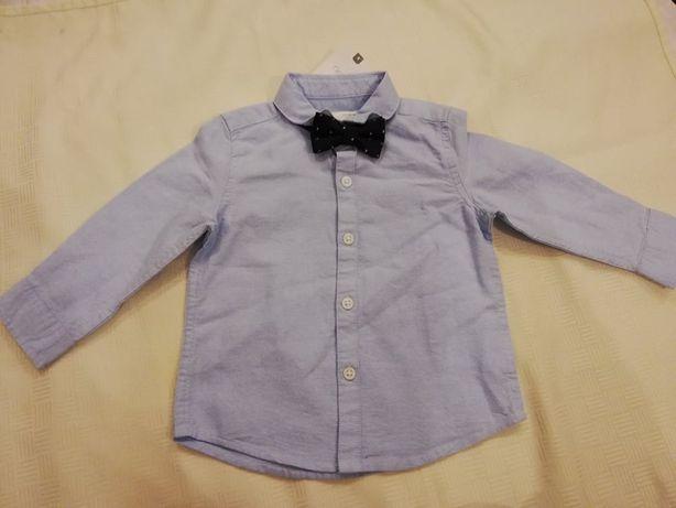 NEXT Koszula z muszką 6-9m 74cm NOWA