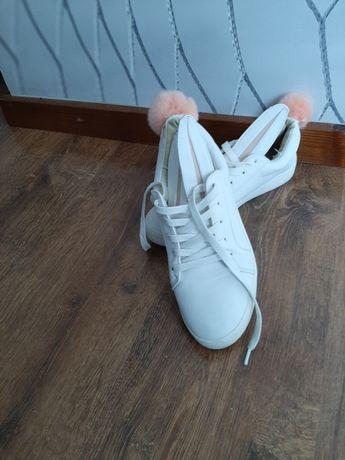 Buty białe króliczki 38