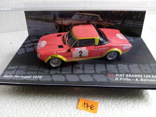 Miniaturas Fiat de Ralies escala 1/43 em perfeito estado