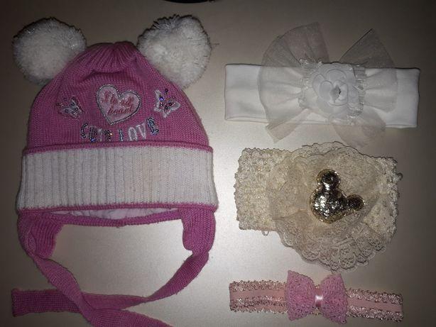 Набор шапка+повязки