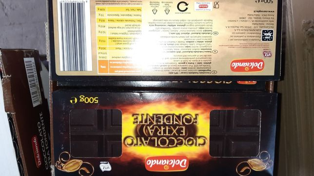 Шоколад з Італії 500г Дольчіандо Dolciando 2.4€