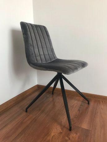 Fotel krzesło tapicerowane szare