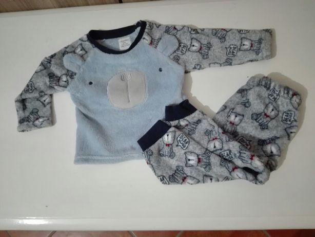 Pijama polar 6-12m 80cm