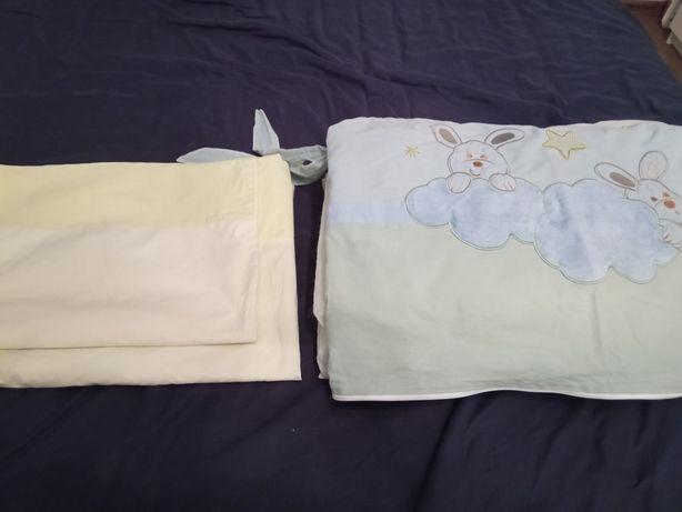 Pościel do łóżeczka z boczkami +wypełnienie boczków FERETTI