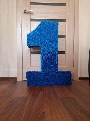 Единичка цифра 1 один на годик на день рождения мальчика фотозона
