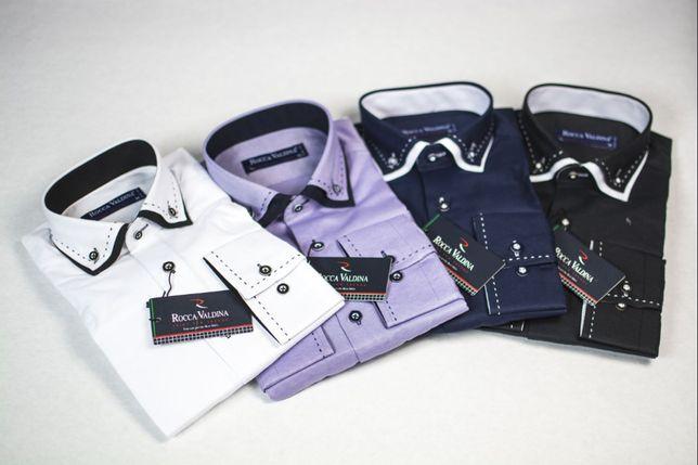 Koszule wizytowe codzienne - zestaw - okazja na biznes - 308 sztuk