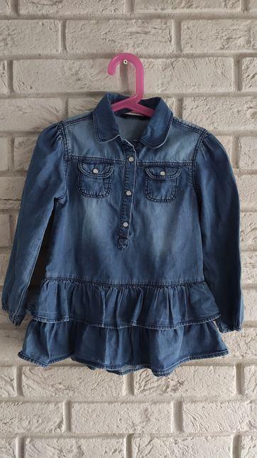 Sukienka sukieneczka tunika jeans jeansowa dżinsowa r.98/104p
